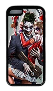 iPhone 5C Case and Cover - Joker And Harley Quinn TPU Case Cover For iPhone 5C - Black