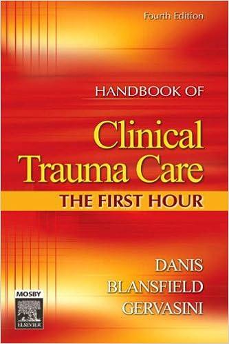 handbook of clinical trauma care the first hour manual of clinical trauma care the first hour sheehy
