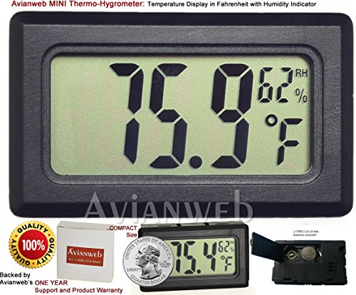 Avianweb Digital Thermo Hygrometer, Mini, Black 51yTviahHjL