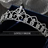 Generic 925 Ms. simple small crown tiara tiara zircon short section of retro fashion birthday gift