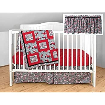 Image of Farmall International Harvester IH Tractor Crib Bedding Nursery Set Home and Kitchen