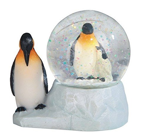 StealStreet SS-G-28058 Marine Life Snow Globe with Penguin Statue Figurine, 3.75