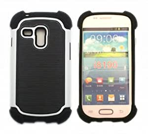 FLETRONMALL 2 IN 1 PC+SILICONE HYBRID COVER CASE FOR Samsung Galaxy S3 MINI i8190
