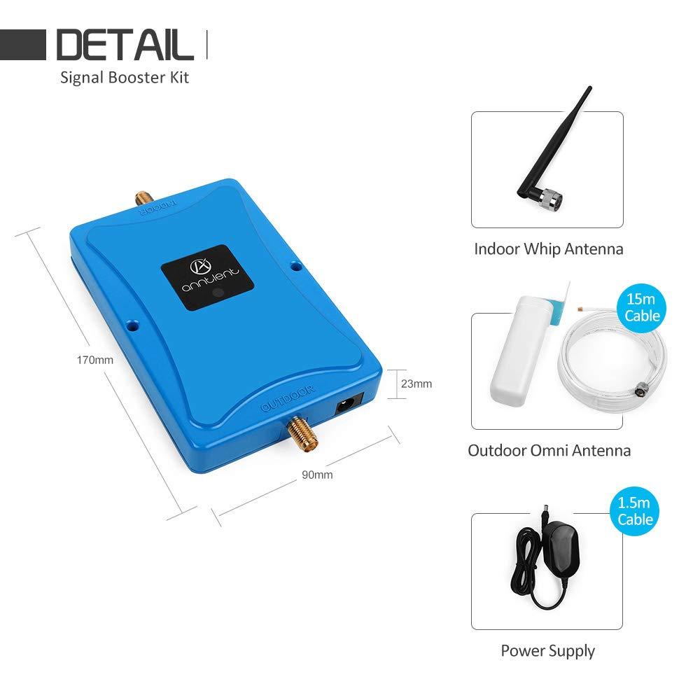 ANNTLENT Amplificatore Segnale Cellulare 800MHz Ripetitore 4g LTE Dati sopra Banda 20 con Antenna Yagi Directional