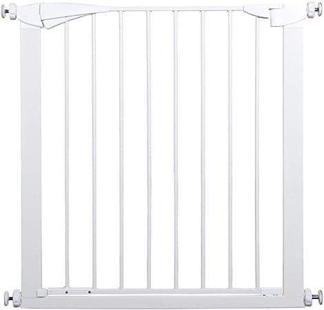 LSRRYD Barrera Extensible Perros Hierro Perro Puerta De Seguridad Aislada Rejilla para Escaleras para Puertas Escaleras Pasillos Interior Al Aire Libre (Size : 79-86x91cm): Amazon.es: Hogar