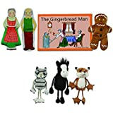 The Puppet Company Traditional Story Sets The Gingerbread Man Book and Finger Puppets Set