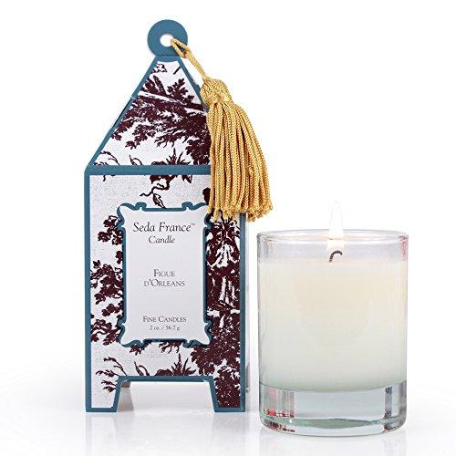 Seda France Classic Toile Mini Pagoda Box Candle, Figue D'Orleans, 2 Ounce ()