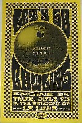 Lets Go Bowling Engine 54 Ska Reggae Punk Portland Concert Tour Gig Poster from ConcertPosterArt