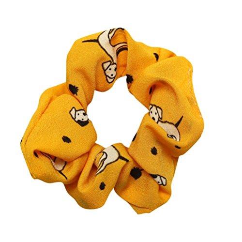 - Clearance Sale! Hair Scrunchies for Women Girls, Iuhan Women Hair Elastics Scrunchies Velvet Scrunchy Bobbles Soft Elegant Elastic Hair Bands Hair Ties (M-Yellow)