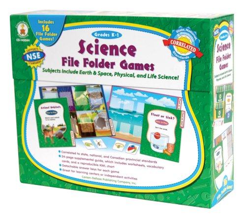 File Folder Activities Centers - Science File Folder Games, Grades K - 1: Skill-Building Center Activities for Science