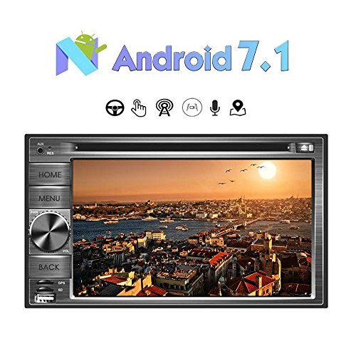 Newest 6.2 inch Android 7.1 Car Stereo Double Din 2G 32G Radio in Dash HD Muti-Touchscreen CD/DVD Player Octa-Core GPS Navigation Support Wifi Bluetooth RDS USB/SD/3G/OBD2/DAB/Mirrorlink/DVR