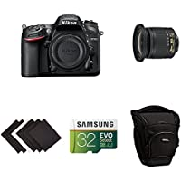 Nikon D7200 DX-format DSLR Body (Black) Travel and Landscape Lens Kit w/ AmazonBasics Accessories