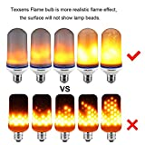Texsens LED Flame Effect Light Bulb, E26 LED Flickering Flame Light Bulbs, 105pcs 2835 LED Beads Simulated Decorative Light Atmosphere Lighting Vintage Flaming Light Bulb for Bar/Festival Decoration