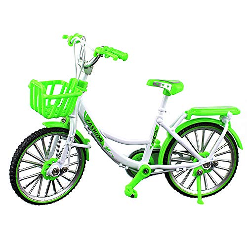 Urchins' Family Alloy Mini Bicycle Toy - Finger Bike for Collections (Ladies' Bike Green)