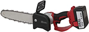 JIUNENG Lithium Electric Cordless Chainsaw, Electric Chain Saw Multi Power Cutter Tool 8 Inch 21V (Battery Included)