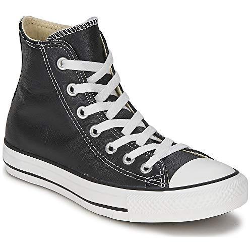 Converse Unisex Chuck Taylor All Star Leather High Top Shoe Black 11 M US, 13 Women/11 Men