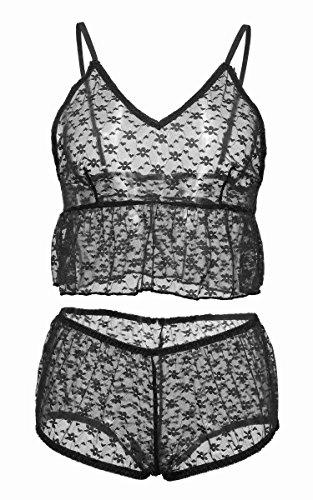 生きている半導体日光サクララ(Sakulala) セクシーランジェリー シースルーベビードール 胸元をセクシーに魅せる スリップ ベビードール Tバック 誘惑下着 シースルー ふわりとした可愛らしいパジャマ セット 過激 女性用 寝間着 大きいサイズ
