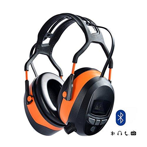 7. Gardtech Headphones (Bluetooth, Radio, LCD Display and 4G SD Card) - Hearing Protection