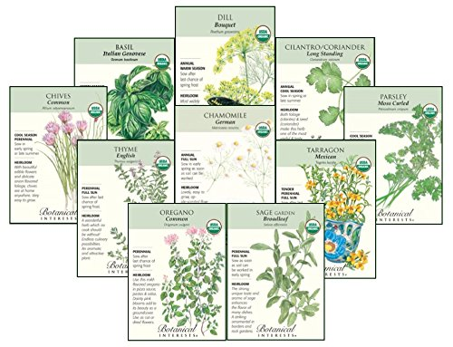 Botanical Interests Organic''Herb Garden'' Seed Collection I - 10 Packets with Gift Box by Botanical Intreests