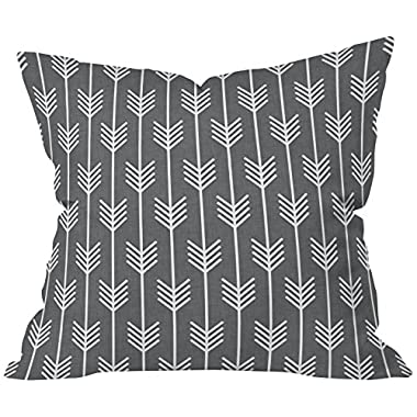 DENY Designs Holli Zollinger Arrows Grey Throw Pillow, 20 x 20
