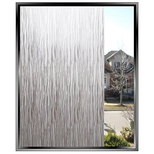 Rain Glass Window Film Static Cling Opaque Glass Sticker Home Decor (Clear one)