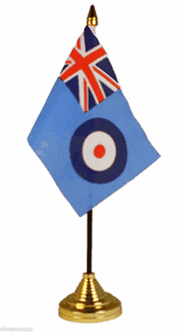 12 Pack Raf Ensign 6x4 Flags On Sticks