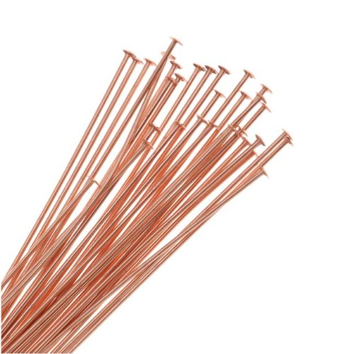 Beadaholique 725Q-2.00 50-Piece Head Pins, 22-Gauge, 2-Inch, Copper (Jewelry Making Supplies Head Pins)