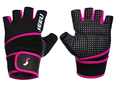 2-Fitness Women's Men's Weight Lifting Gloves With 45 Centimeter Wrist Wrap