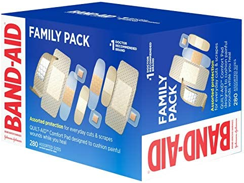 51yU%2B4gIgNL. AC - Band-Aid Brand Adhesive Bandage Family Variety Pack, Sheer And Clear Bandages, Assorted Sizes, 280 Ct