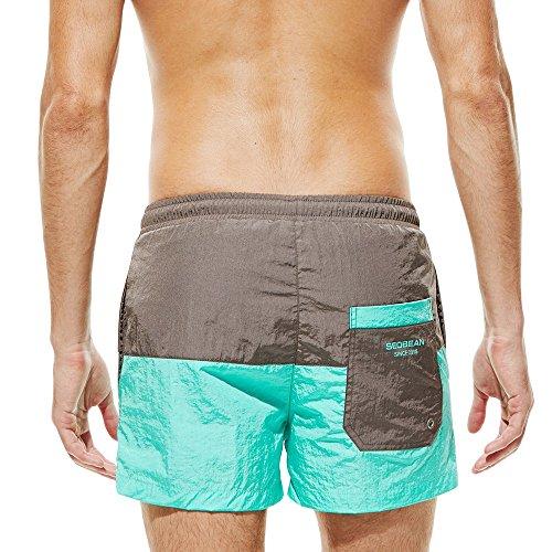 Bermuda Short Grande Sport Séchage Rapide Ciel Plage plongée Shorts Boxers sport Homme Bain De natation Plage Taille Pour Bleu qtwtS1