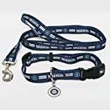 HUNTER Seattle Mariners Pet Set Dog Leash Collar ID Tag Small