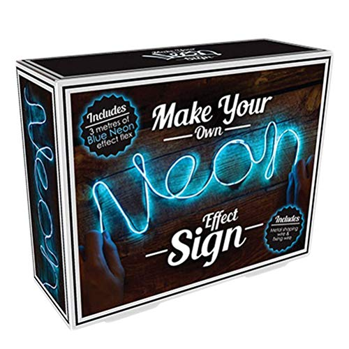 Fizz Creations Make Your Own Neon Effect Sign 3M Neon String Light Message Kit (Blue) (Make Your Own Neon Effect Sign Kit)