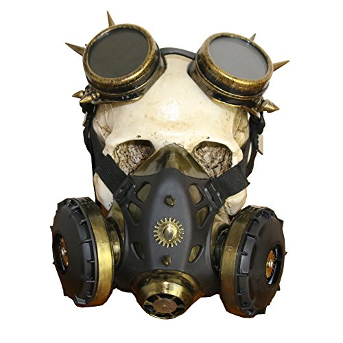 2017 Halloween Retro Rubber Steampunk mask for Horror Party and Cosplay (style3)