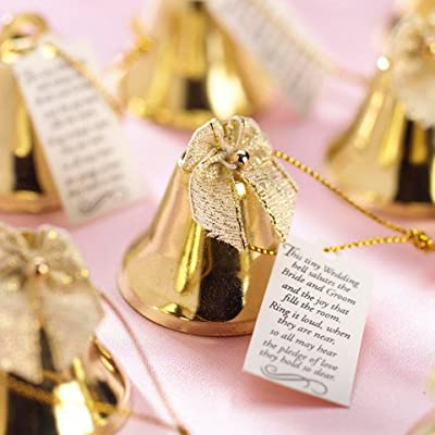 Bulk Buy: Darice DIY Crafts Victoria Lynn Bridal Bells Gold 1 inch 24 pieces (1-Pack) 1402-44
