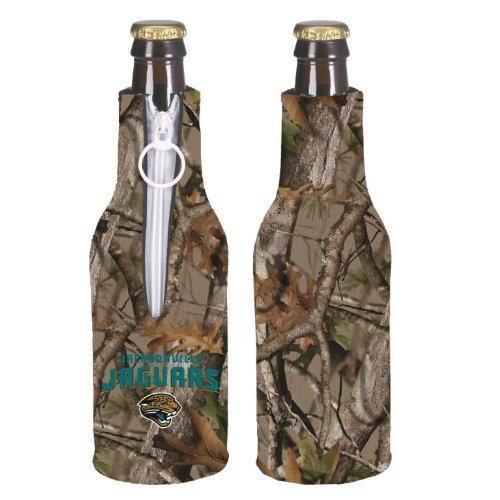 Camo Bottle Suit - NFL Football Vista Camo Bottle Suit Koozie Holder 2-Pack - Pick Team! (Jacksonville Jaguars)