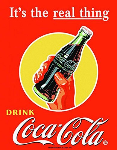 Amazon.com: Coca Cola la cosa real Retro clásico Tin Sign ...