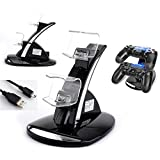 Playstation 4 controller charger, PS4 controller charge kit, playcontroller dual charge docking cradle, USB charging stand holder charger dock for PS4 controller playstation 4