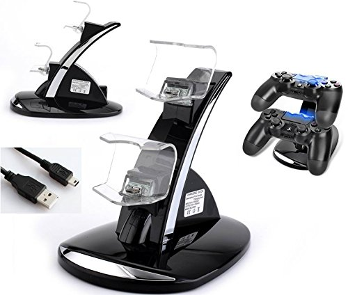 Playstation 4 controller charger, PS4 controller charge kit, playcontroller dual charge docking cradle, USB charging stand holder charger dock for PS4 controller playstation 4 For Sale