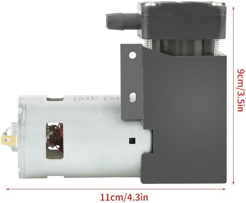 Petit Moteur De Pompe /à Vide Dair De Gaz Sans Huile 1pc Mini Pompe /à Vide 12V 42W DC d/ébit 40L//min 85KPa