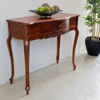 International Caravan 3849-IC Furniture Piece Carved Wood One Drawer Table