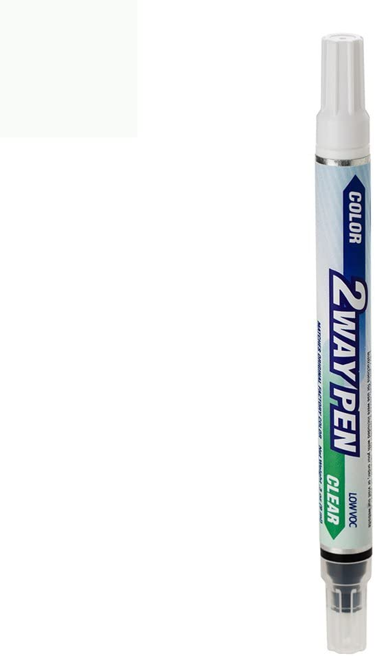 ExpressPaint 2WayPen - Automotive Touch-up Paint for Land-Rover Range Rover - Fuji White Clearcoat 867 - Color + Clearcoat Only