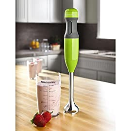 KitchenAid KHB1231CB 2-Speed Hand Blender, Cranberry 2 Durable plastic and stainless steel construction Comfortable non-slip grip 2-speed design