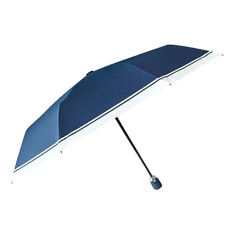 Modesty Rayas clásicas PARAGUAS paraguas sol Protección solar protección UV PARAGUAS paraguas plegable doble uso de