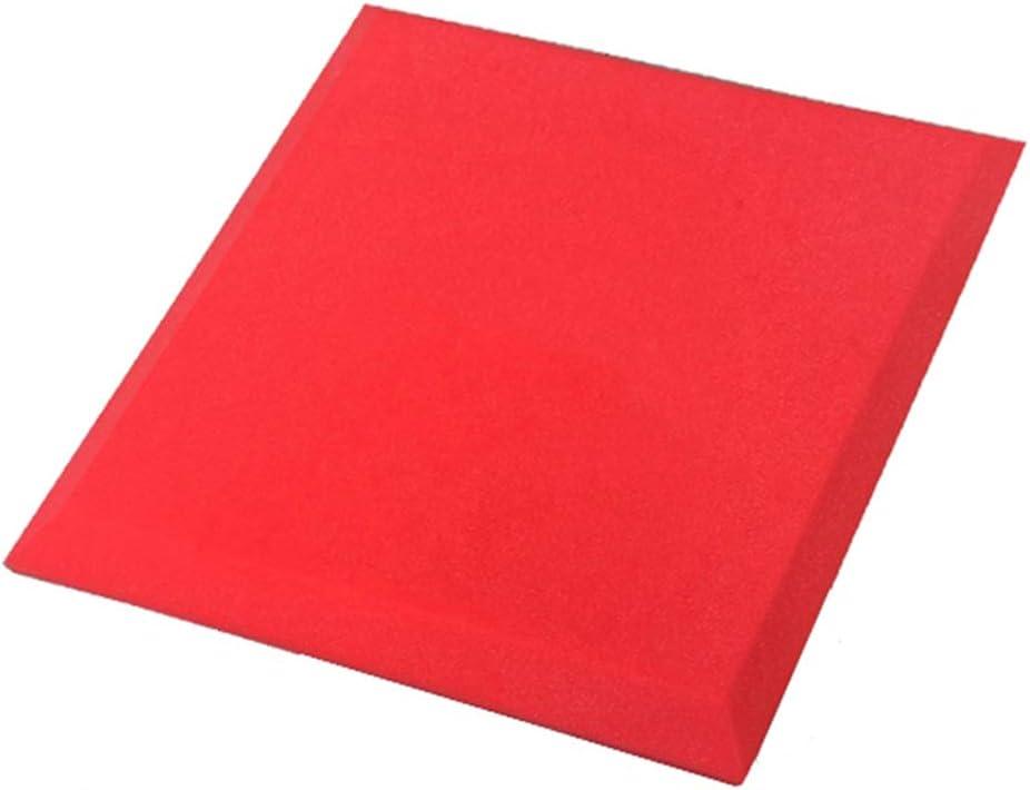 試聴室吸音材-ChenSY 吸音綿、色の正方形の寝室の音響パネル耐久性のある難燃性多機能遮音綿 車用断熱吸音材 (Color : Red)