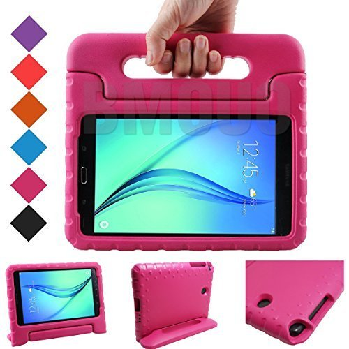 BMOUO Samsung Galaxy Tab A 8.0 (2015) Kids Case - ShockProof Case Light Weight Kids Case Super Protection Cover Handle Stand Case for Kids Children for Samsung Galaxy TabA 8-inch Tablet - Rose Color (Covers Galaxy Tab Samsung Light)