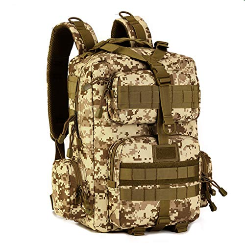 Price comparison product image Military Backpack Men Multi-function Waterproof Pack Travel Backpack Nylon Bags Mochila Camouflage Tactics Backpack, Desert Digital
