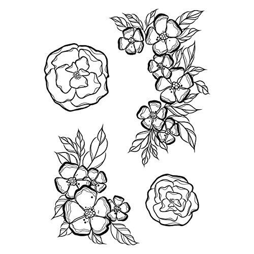- Spellbinders SBS-190 Stamp Set Little Flowers, Cling Foam