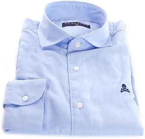 Scalpers SEARSTON Shirt Camisa, Blue, 43 para Hombre: Amazon.es: Ropa y accesorios
