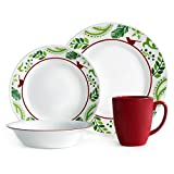Corelle Impressions 16-Piece Dinnerware Set, Birds and Boughs, Service for 4