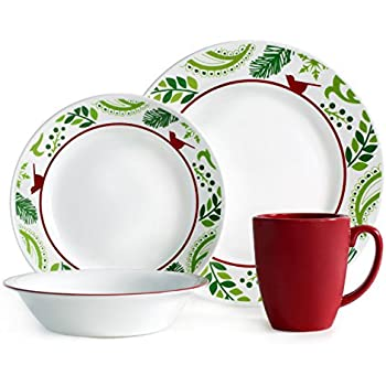 Corelle Impressions 16-Piece Dinnerware Set Birds and Boughs Service for 4  sc 1 st  Amazon.com : casual dinnerware sets service for 12 - Pezcame.Com